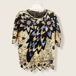 Vintage Sequin and Beaded Top